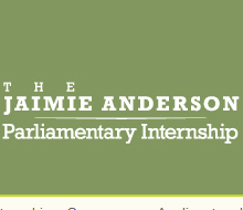 Jaimie Anderson Parliamentary Internship
